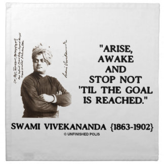 El Swami Vivekananda se presenta parada despierta Servilletas De Papel