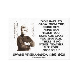El Swami Vivekananda tiene que crecer de al revés Impresiones En Lona Estiradas