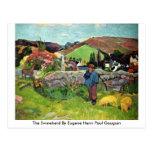 El Swineherd de Eugene Enrique Paul Gauguin Tarjetas Postales