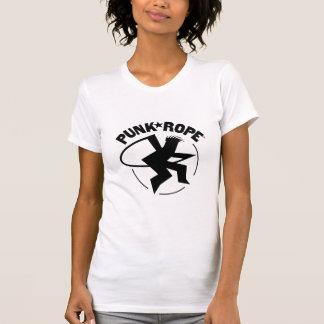 El T de las mujeres punkyes de la cuerda - 18 colo Camisetas