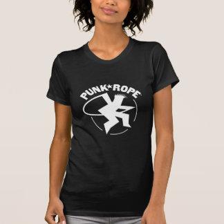 El T de las mujeres punkyes de la cuerda colores Camiseta