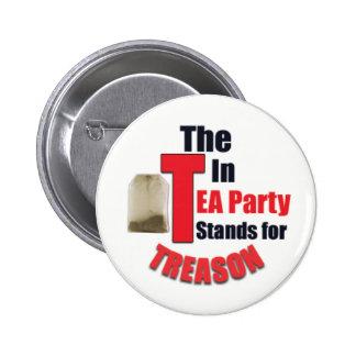 El t en fiesta del té representa botón de la tra pin