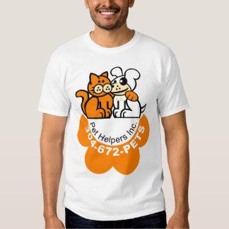 El T-Shirt1 del ayudante del mascota Remeras