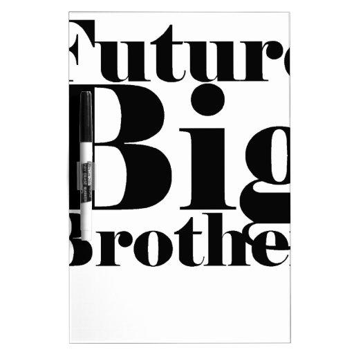 El T-Shirt.png de los niños futuros de hermano may Pizarras Blancas De Calidad