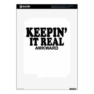 El T-Shirts.png de las mujeres torpes reales de Pegatinas Skins Para iPad 3