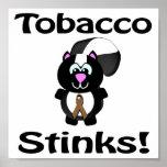 El tabaco apesta diseño de la conciencia de la mof poster