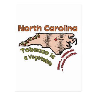 El tabaco del del lema de Carolina del Norte NC Tarjeta Postal