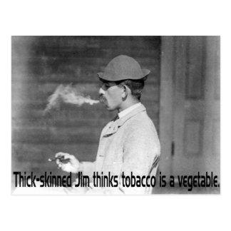 El tabaco es una verdura - humor de antaño del fum tarjeta postal