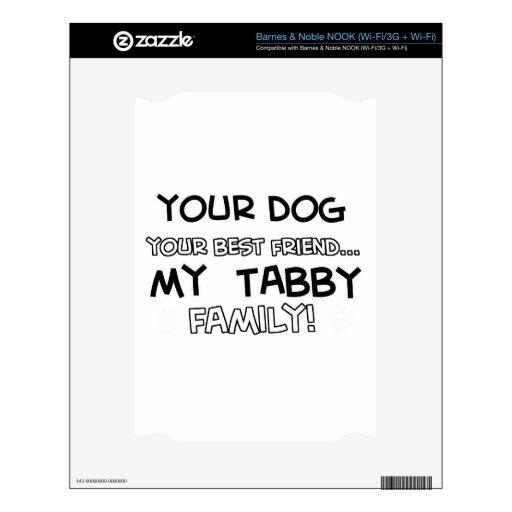 El Tabby es diseños de la familia Calcomanía Para NOOK