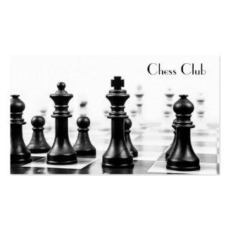 El tablero de ajedrez fresco junta las piezas de plantilla de tarjeta personal