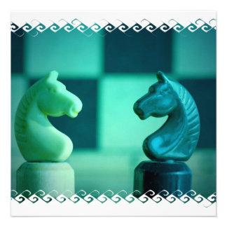 El tablero de ajedrez Knights invitaciones Comunicados Personales