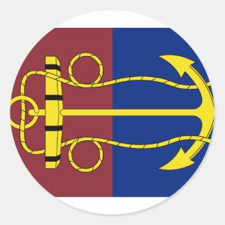 el tablero de la marina de guerra de Nueva Pegatina Redonda