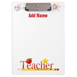 El tablero de un profesor