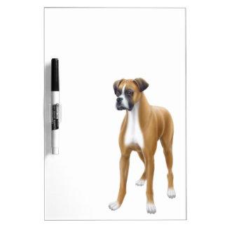 El tablero seco del borrado del perro leal del box pizarras blancas de calidad