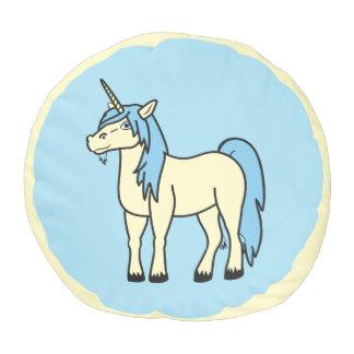El taburete del unicornio de los azules cielos puf redondo