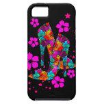 El tacón alto del verano calza las flores de las r iPhone 5 cárcasa