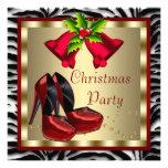El tacón alto rojo calza la fiesta de Navidad roja Comunicados Personales