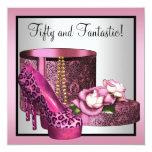 El tacón alto rosado calza cumpleaños del leopardo anuncios