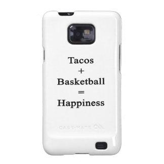 El Tacos más baloncesto iguala felicidad Samsung Galaxy SII Funda