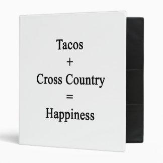 El Tacos más el campo a través iguala felicidad Carpeta 2,5 Cm
