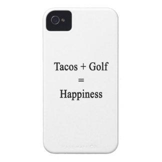 El Tacos más golf iguala felicidad iPhone 4 Cárcasas