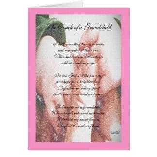 El tacto de un nieto tarjeta de felicitación