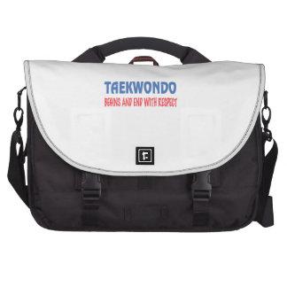 El Taekwondo comienza y extremo con respecto Bolsas Para Ordenador