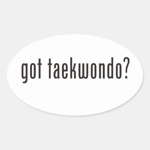 ¿el Taekwondo conseguido? Pegatina Ovalada