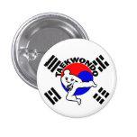 El Taekwondo envolvió el botón Pin