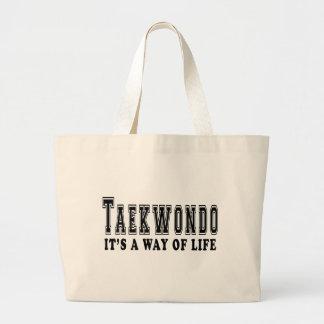 El Taekwondo es manera de vida Bolsa Tela Grande