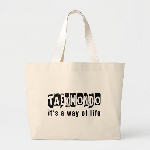 El Taekwondo es una manera de vida Bolsa De Mano