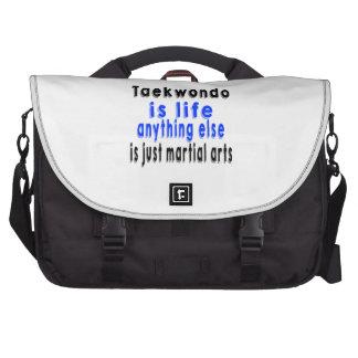 El Taekwondo es vida que todo lo demás es apenas Bolsas De Portátil