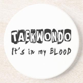 El Taekwondo está en mi sangre Posavasos De Arenisca