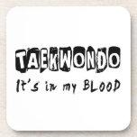 El Taekwondo está en mi sangre Posavasos De Bebida