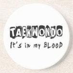 El Taekwondo está en mi sangre Posavasos Diseño