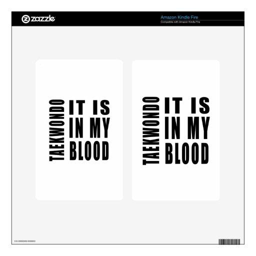 El Taekwondo está en mi sangre Kindle Fire Pegatinas Skins