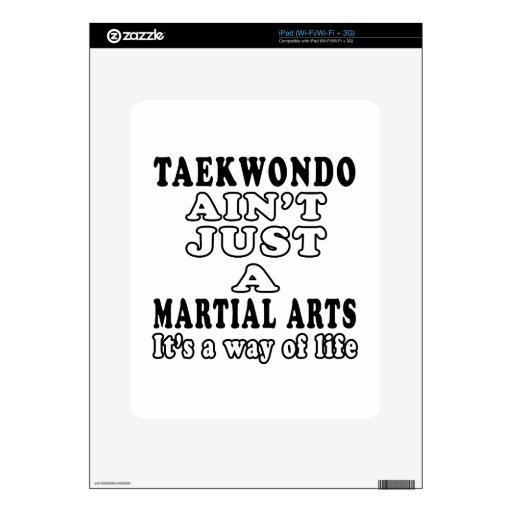 El Taekwondo no es apenas un juego que es una mane iPad Calcomanías