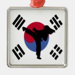 El Taekwondo Ornaments Para Arbol De Navidad