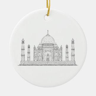 el Taj Mahal Adorno Navideño Redondo De Cerámica