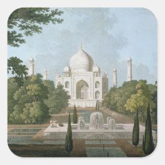 El Taj Mahal, Agra, del jardín Pegatina Cuadrada