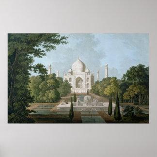 El Taj Mahal Agra del jardín Posters
