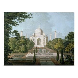 El Taj Mahal, Agra, del jardín Tarjetas Postales
