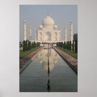 El Taj Mahal, Agra, la India Poster