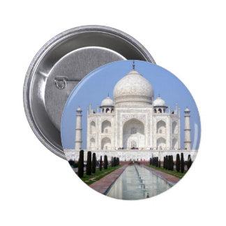 El Taj Mahal, Agra, la India Pin Redondo De 2 Pulgadas