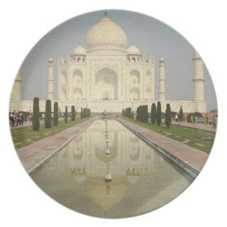 El Taj Mahal, Agra, la India Plato