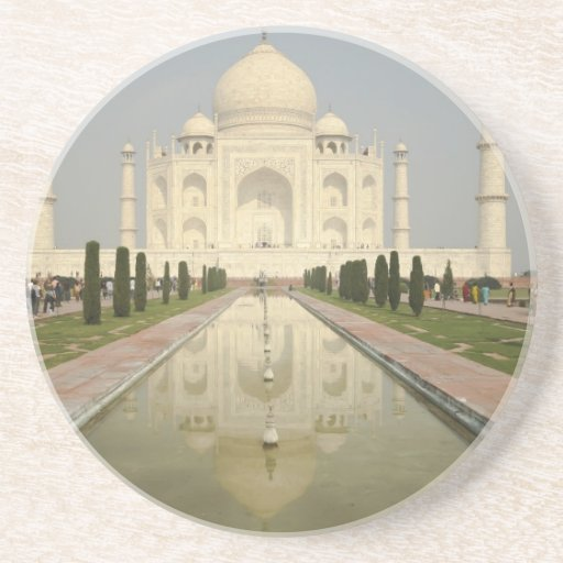 El Taj Mahal, Agra, la India Posavasos Manualidades