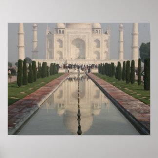 El Taj Mahal Agra la India Poster