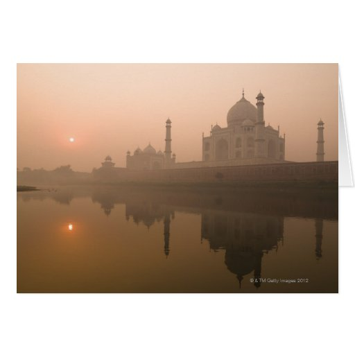 El Taj Mahal, Agra, la India Tarjeta