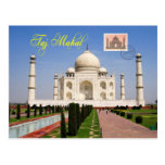 El Taj Mahal, Agra, la India Tarjeta Postal