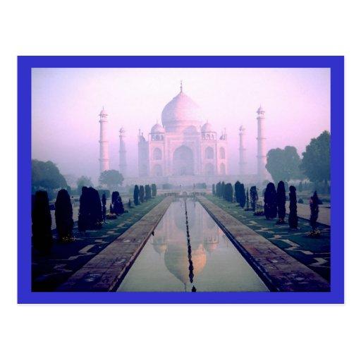 El Taj Mahal Agra la India Tarjetas Postales